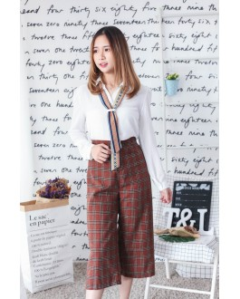 Korea Checks Culottes (Brown)
