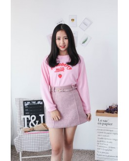 Korea Strawberry Long Sleeve Top (Pink)