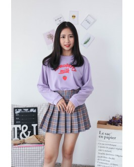 Korea Strawberry Long Sleeve Top (Purple)