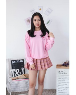 Korea Pink Panther Long Sleeve Top (Pink)