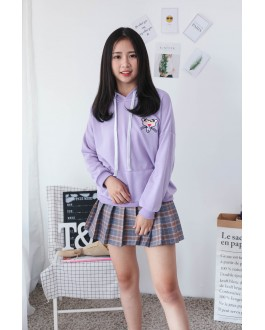 Korea Pink Panther Hoodie Top (Purple)