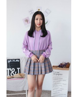 Korea Strawberry With Pocket Hoodie Top (Purple)