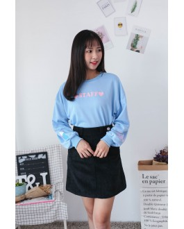 Korea Ice Cream & Staff Long Sleeve Top (Blue)