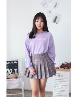 Korea Ice Cream & Staff Long Sleeve Top (Purple)
