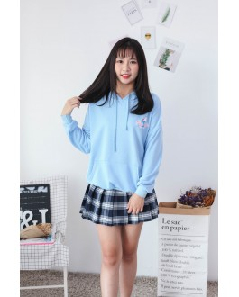 Korea Ice Cream Hoodie Top (Blue)