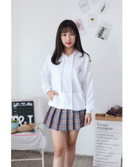 Korea Ice Cream Hoodie Top (White)