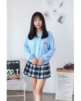 Korea XOXO Pool Party Hoodie Top (Blue)