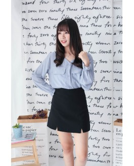 Korea Basic High Waist Skirt (Black)