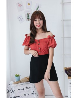 Korea Basic Lady High Waist Skirt (Black)