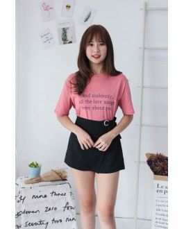 Korea Love Song Tee (Nude Pink)