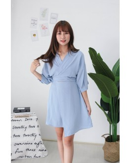 Korea Cross Strap Dress (Blue) - BACKORDER ETA 11 OCT