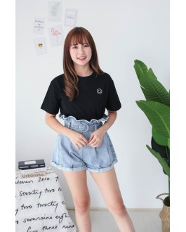 Korea Smile Face Tee (Black)