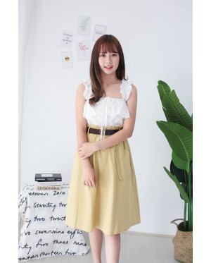 Korea Button Off Shoulder Top (White)