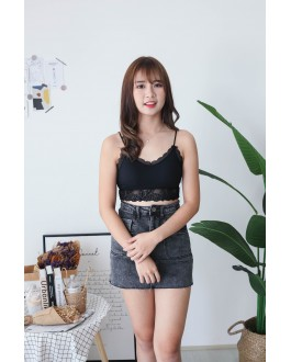 Korea Elastic Lace Bra Tube (Black) - BACKORDER ETA 30 NOV