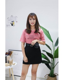 Korea Problem Tee (Nude Pink)