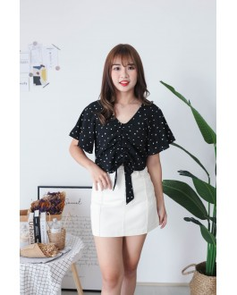Korea Love Lace Up Top (Black)